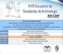 Programa Encuentro de estudiantes de Archivología