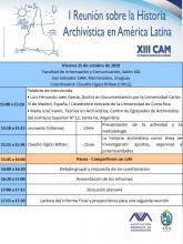 Programa Reunión sobre historia archivística latinoamericana