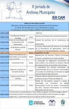 Programa X Jornada de Archivos Municipales
