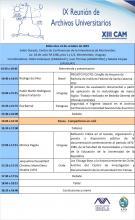 Programa novena Reuniòn de Archivos Universitarios