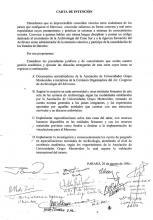 Carta de Intención primer Congreso de Archivología del MERCOSUR